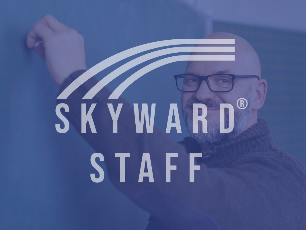 Skyward Staff Login Teach blackboard chalk smiling glasses